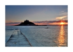 St Michael's Mount Sun Card